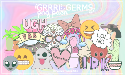 Grrrl Germs Png Pack Tumblr Png Png Free Png