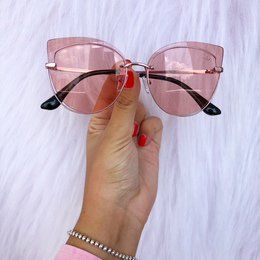 a635c05d8cb31 Oculos Rock Rose Transparente Flamingo Rosa