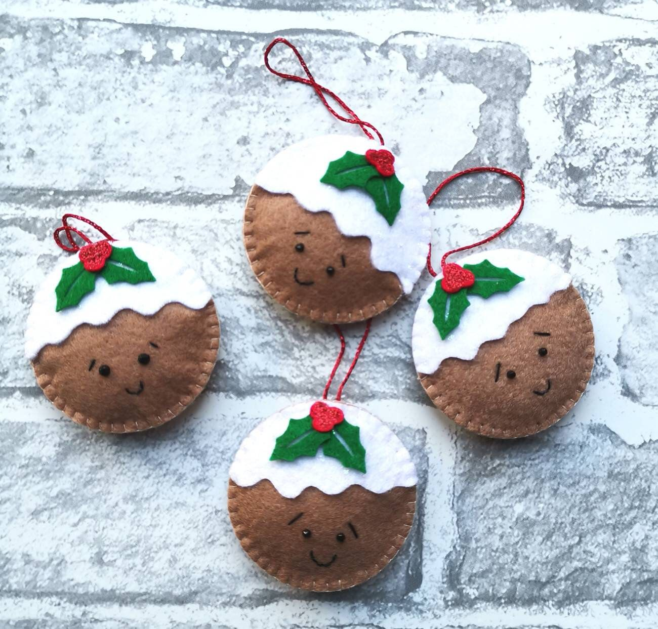 Excited to share this item from my shop: Christmas Pudding Decoration, Christmas Pudding Tree Decoration, Christmas Decorations, Christmas Decor, Christmas Pudding Ornament, Happy
