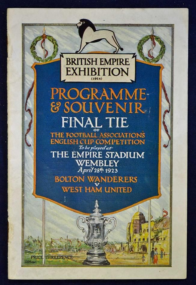 1923 FA Cup final programme: Bolton Wanderers v West Ham United