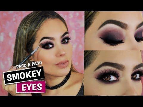 maquillaje ojos ahumados morado paso paso