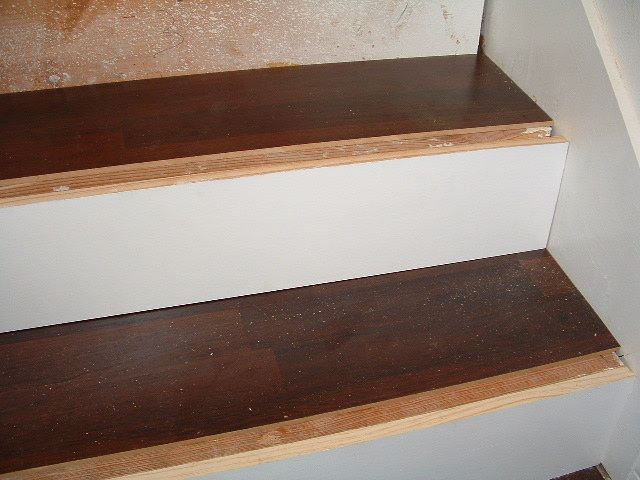 Step 7   Installing Laminate Flooring On The Stair Treads.