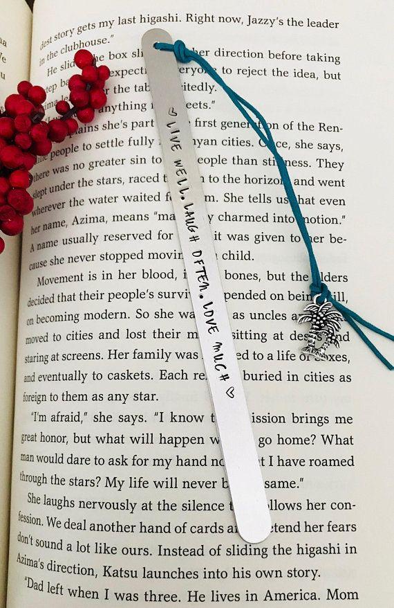 gift for reader custom bookmark literary gift gift for writers