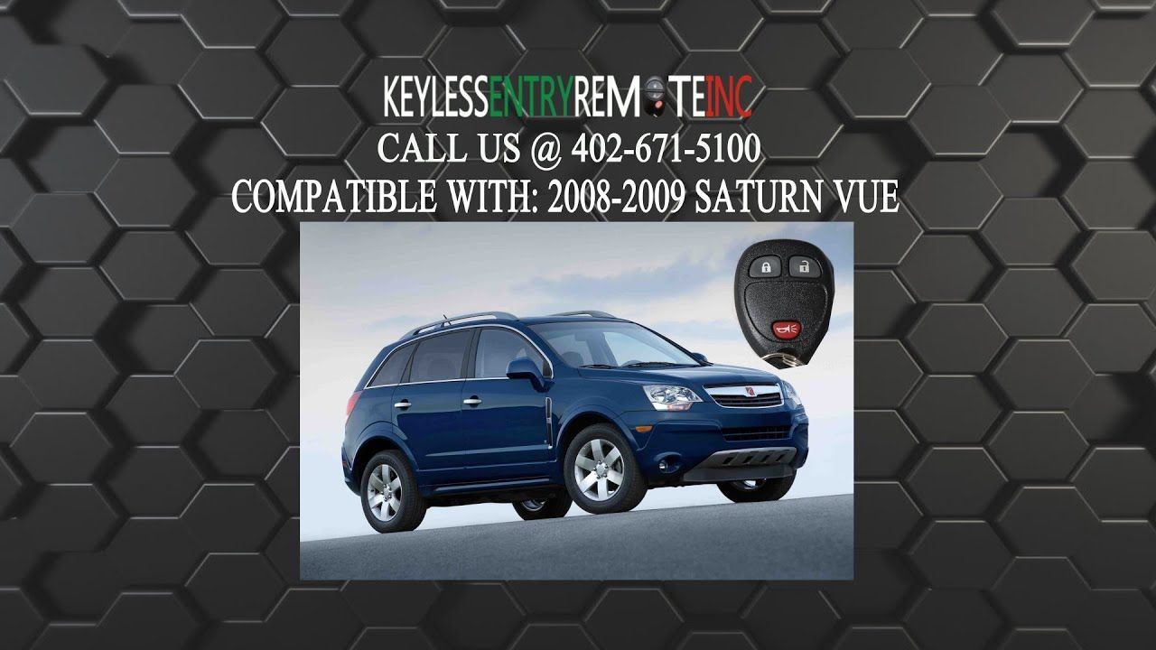 How To Replace Saturn Vue Key Fob Battery 2008 2010 Yaris Key