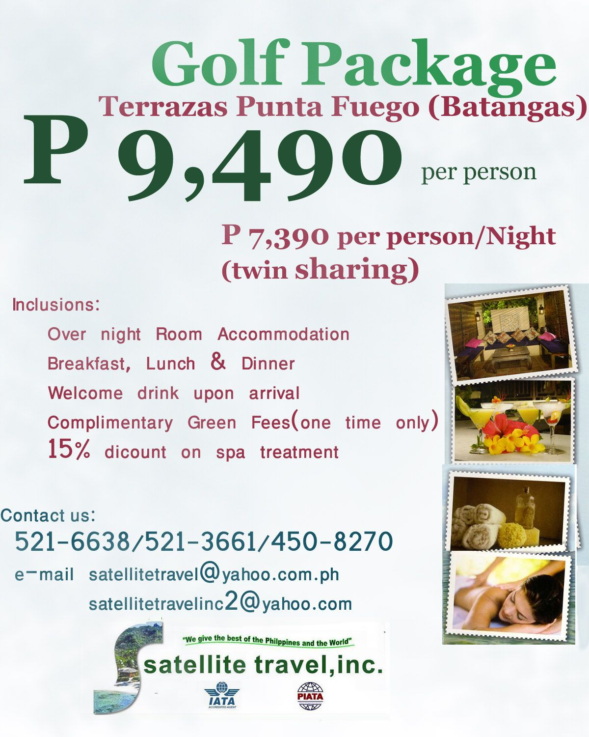 Package For Only P 9 490 P 7 390 Per Person Night Twin
