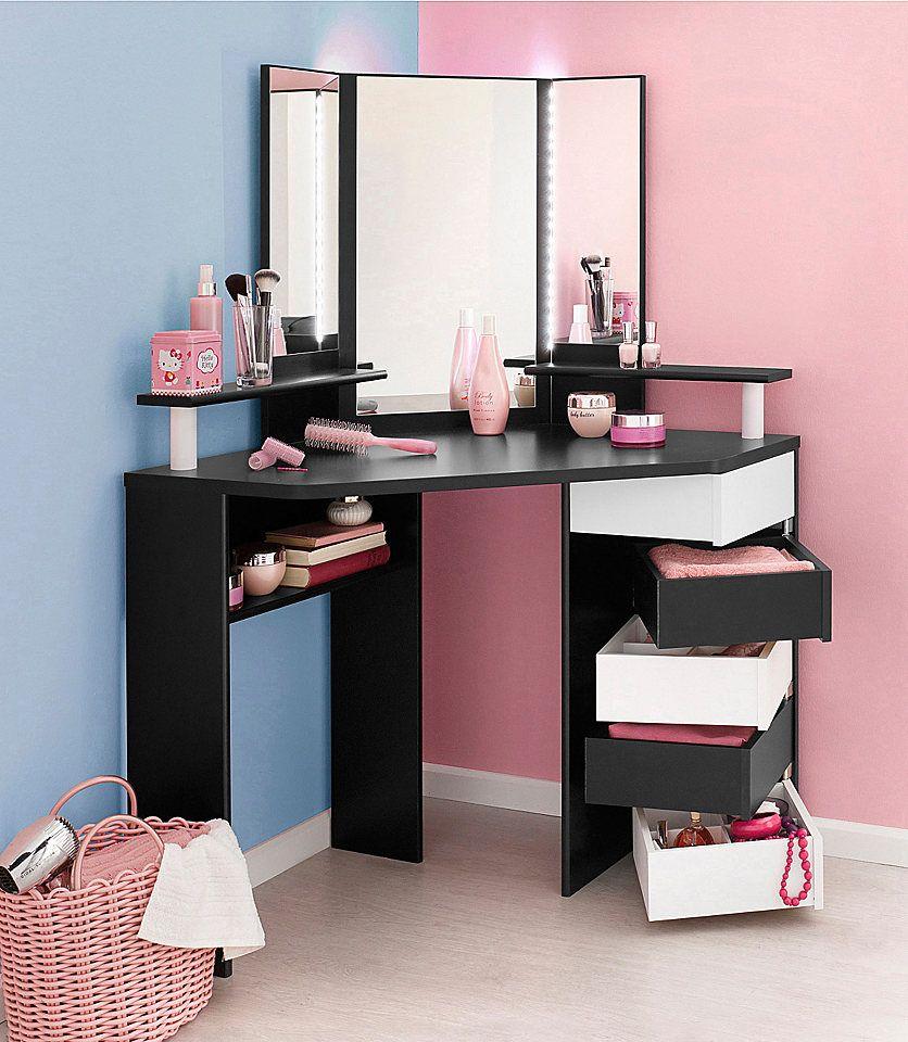 parisot schminktisch volage f r 299 99 frisiertisch mit zahlreichen stauraumm glichkeiten. Black Bedroom Furniture Sets. Home Design Ideas