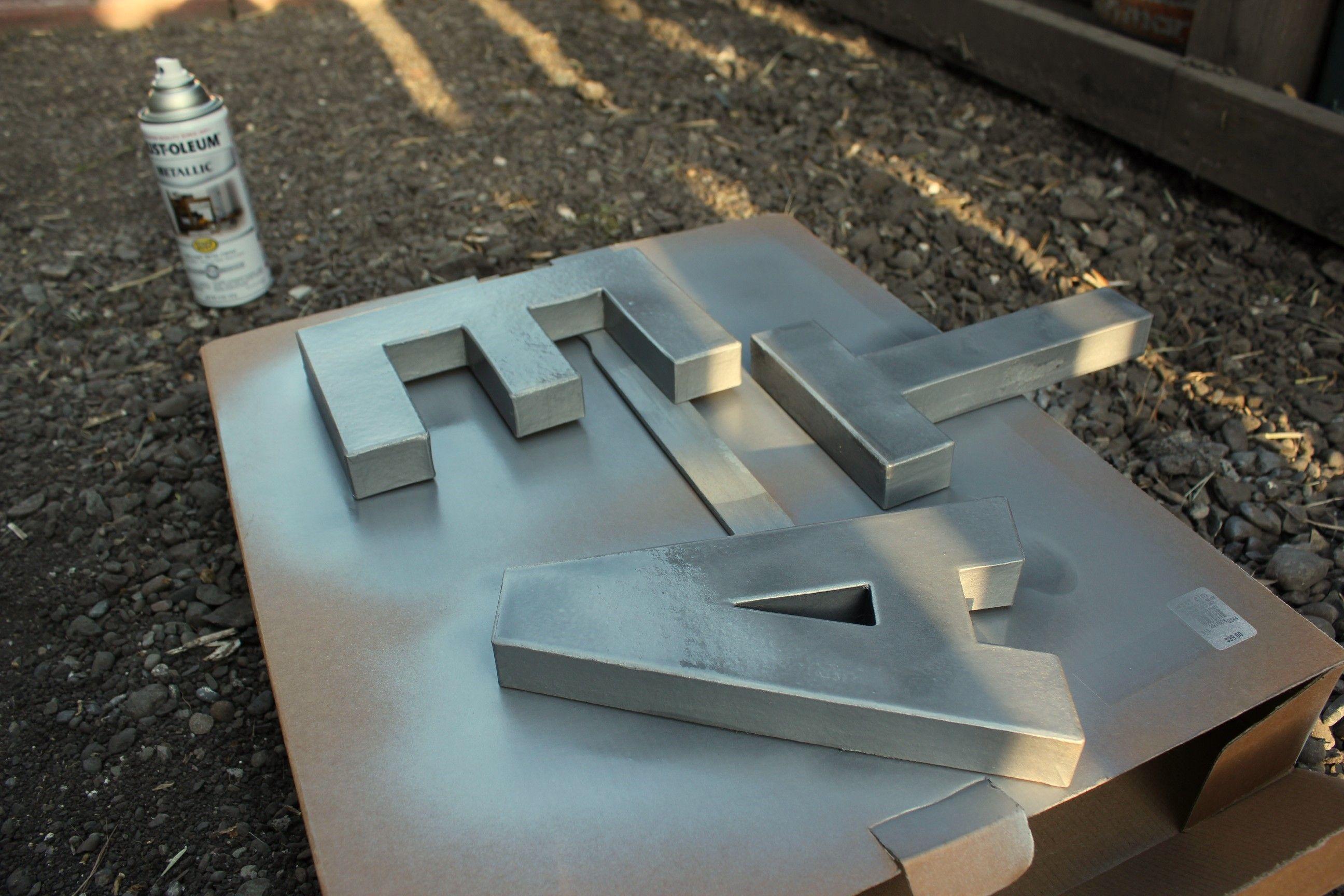 Letter Art 346 Living Paper Mache Letters Diy Zinc Letters Cardboard Letters