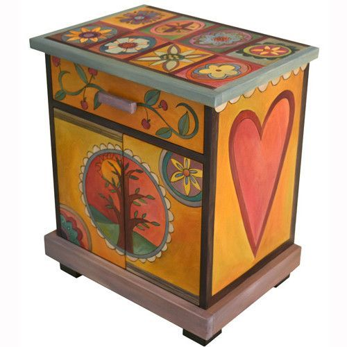 Sticks Creates This Artistic One Of A Kind Accent Night Table, Constructed