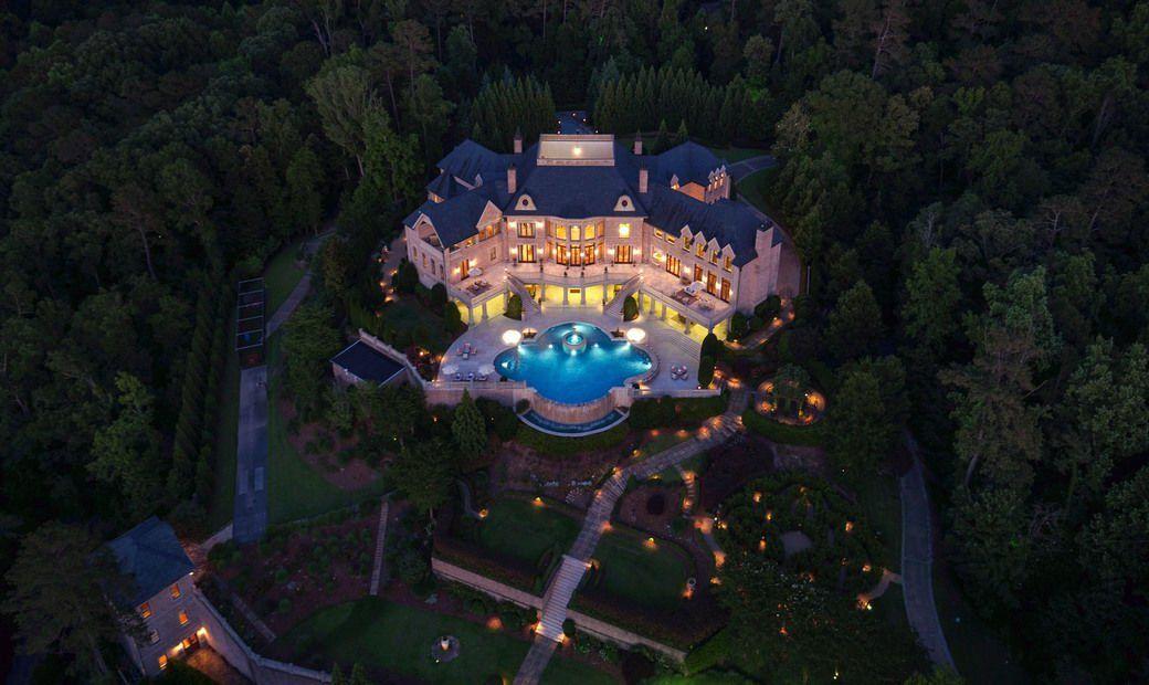 Atlantas most spectacular gated estate nestled on in