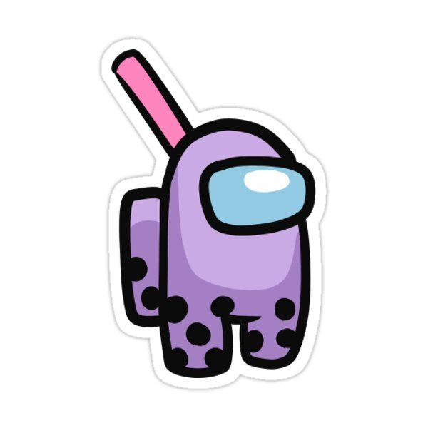 Taro Bubble tea x Among Us Sticker