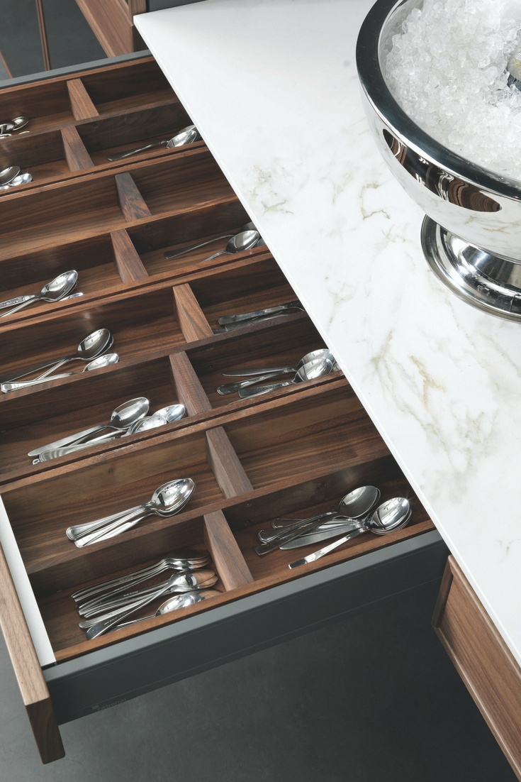 Schubladen Organizer Küche Holz