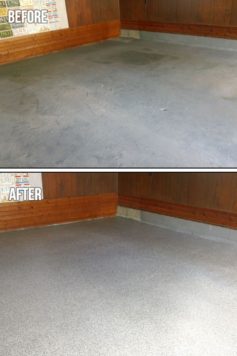 Garage Floor Paint Chips Epoxy Chip Coating Garage Floor Corner You Can Use Custom Blends