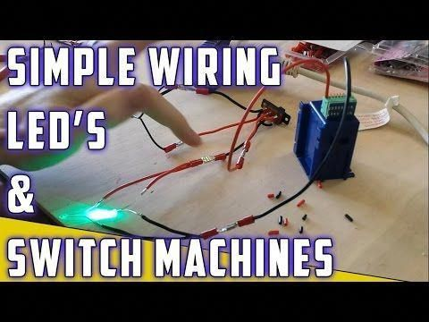 Model Railroad - How To - Switch machine with LED\u0027s - YouTube No