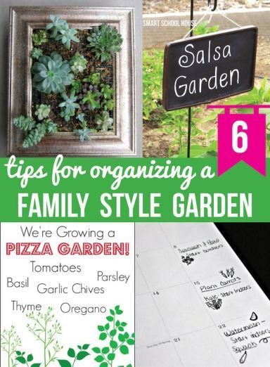 6 Tips for Organizing a Family Style Garden