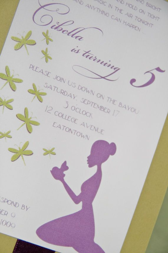 princess tiana invite | Princess and the Frog | Pinterest ...