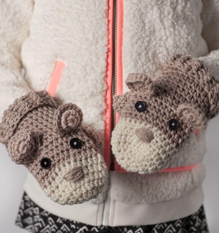 How to Crochet Critter Mittens - JoAnn | Jo-Ann | Crochet Today ...
