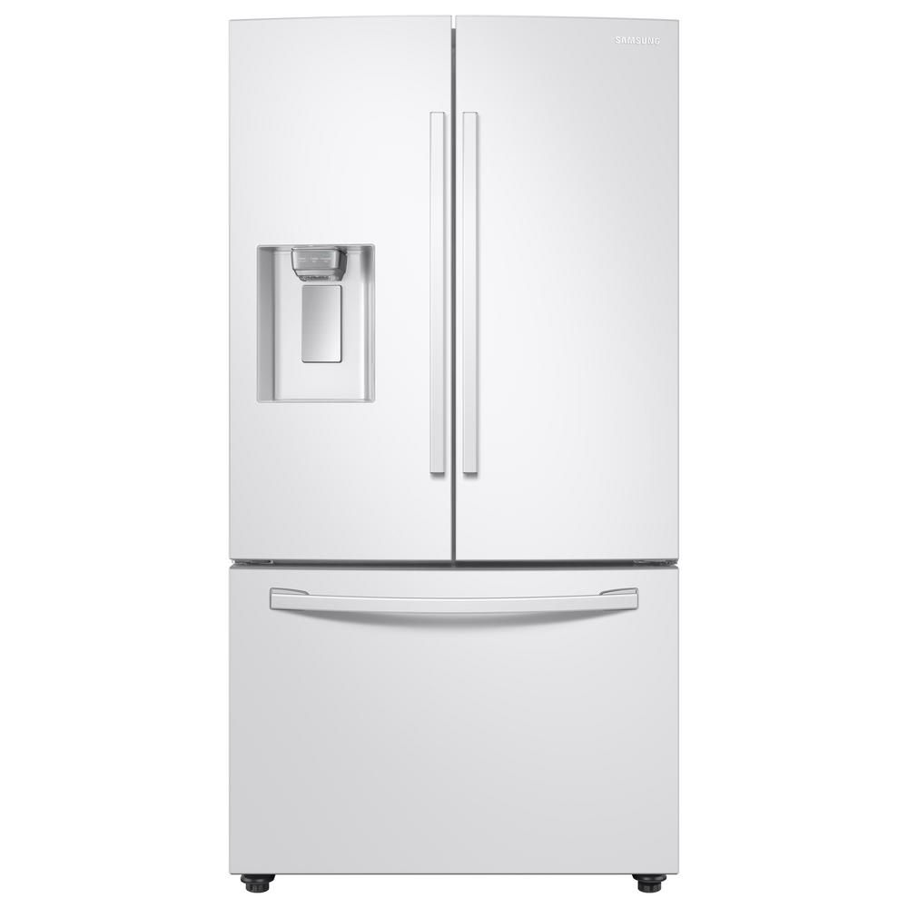 Samsung 28 Cu Ft 3 Door French Door Refrigerator In White With Coolselect Pantry Rf28r6202ww The Home Depot In 2020 French Door Refrigerator Counter Depth French Door Refrigerator White Refrigerator