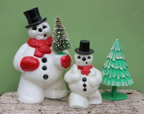 Image Result For Vintage Snowman Figurines