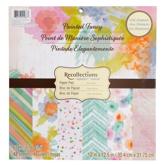 Painted Fancy Paper Pad By Recollections Fancy Cuttings And Planners