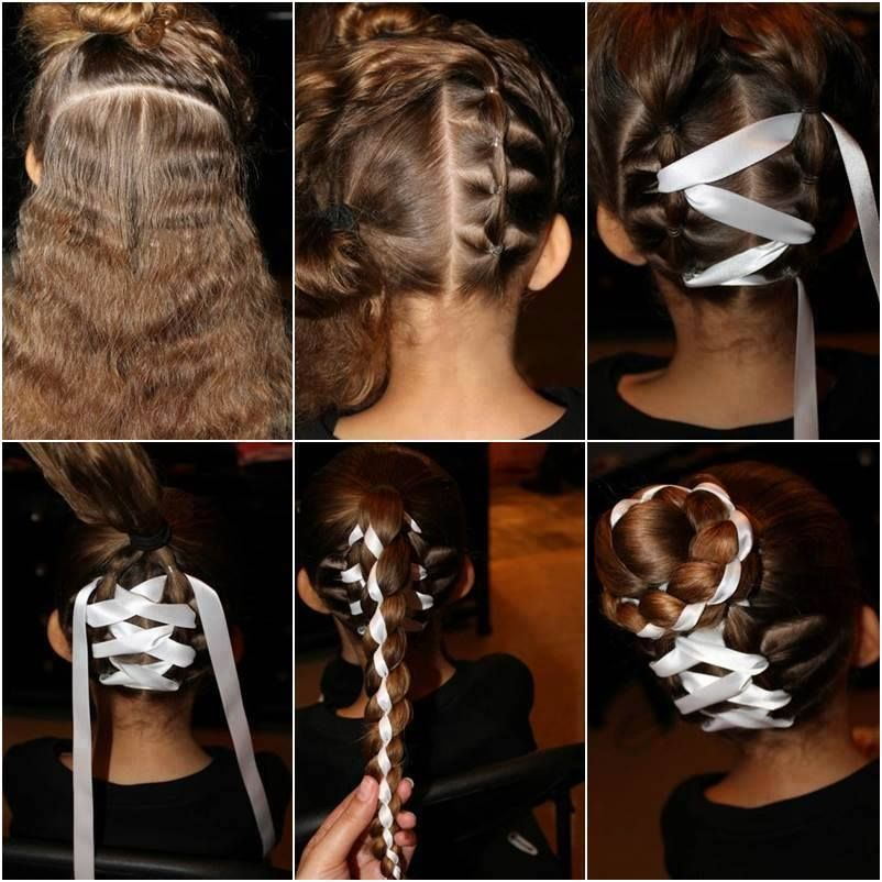 I Little Difficult But Great Ribbon Hairstyle Hair Styles Diy Hairstyles