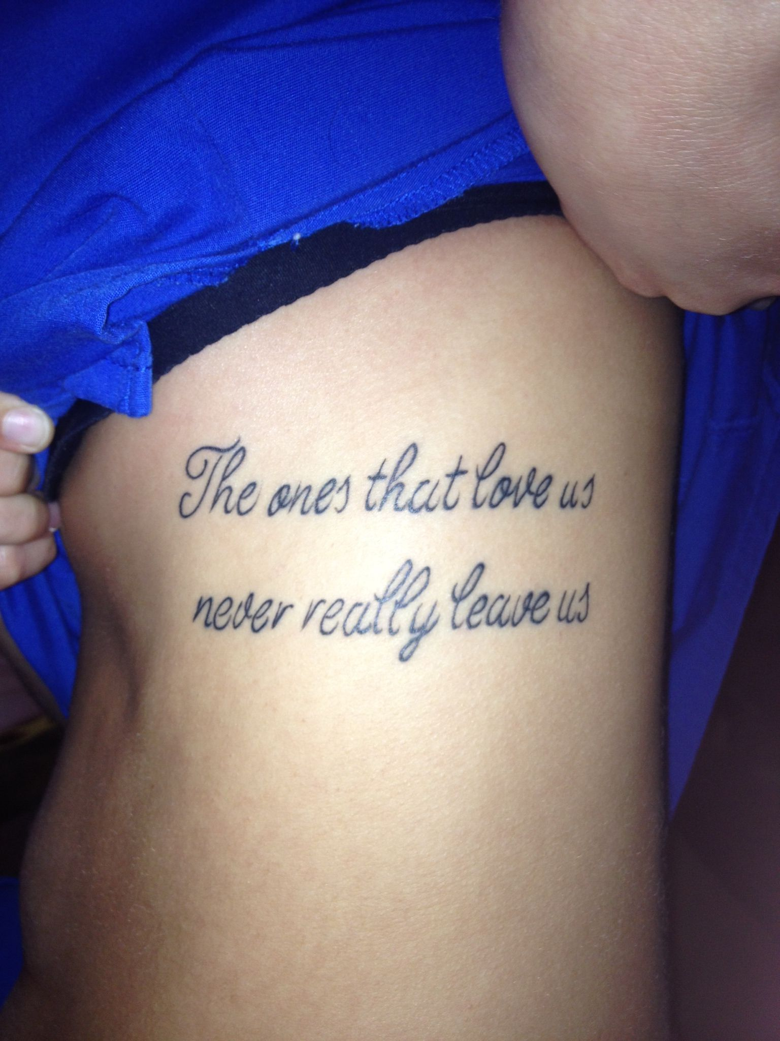 Tattoo on my ribs. HP quote.