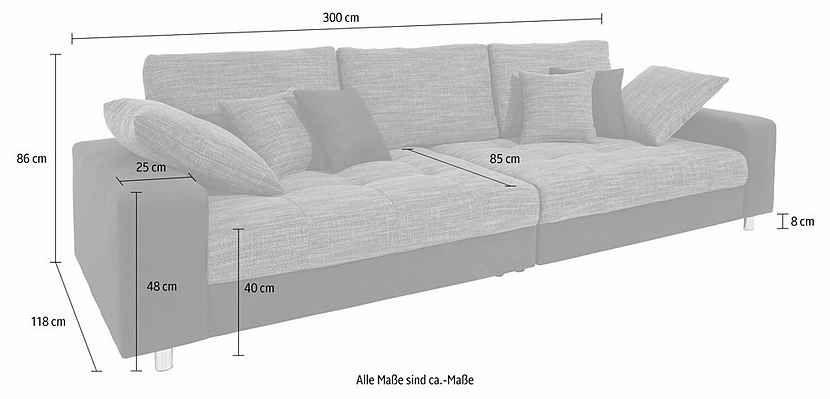 Big Sofa, Wahlweise Mit RGB LED Beleuchtung