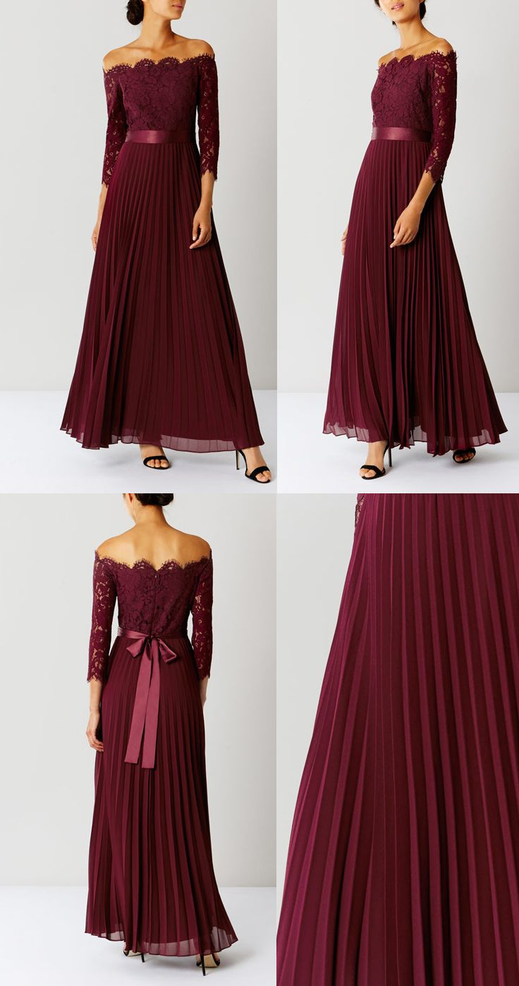 8f5bba4c41cf Pleated Maxi · AW17 Coast Merlot Burgundy Imi Lace Bridesmaid Dress.  Delicate modern take on traditional bridesmaid dress