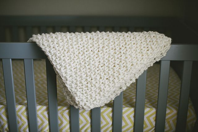 Knitting Patterns Galore Easy Chunky Baby Blanket Knit Blankets