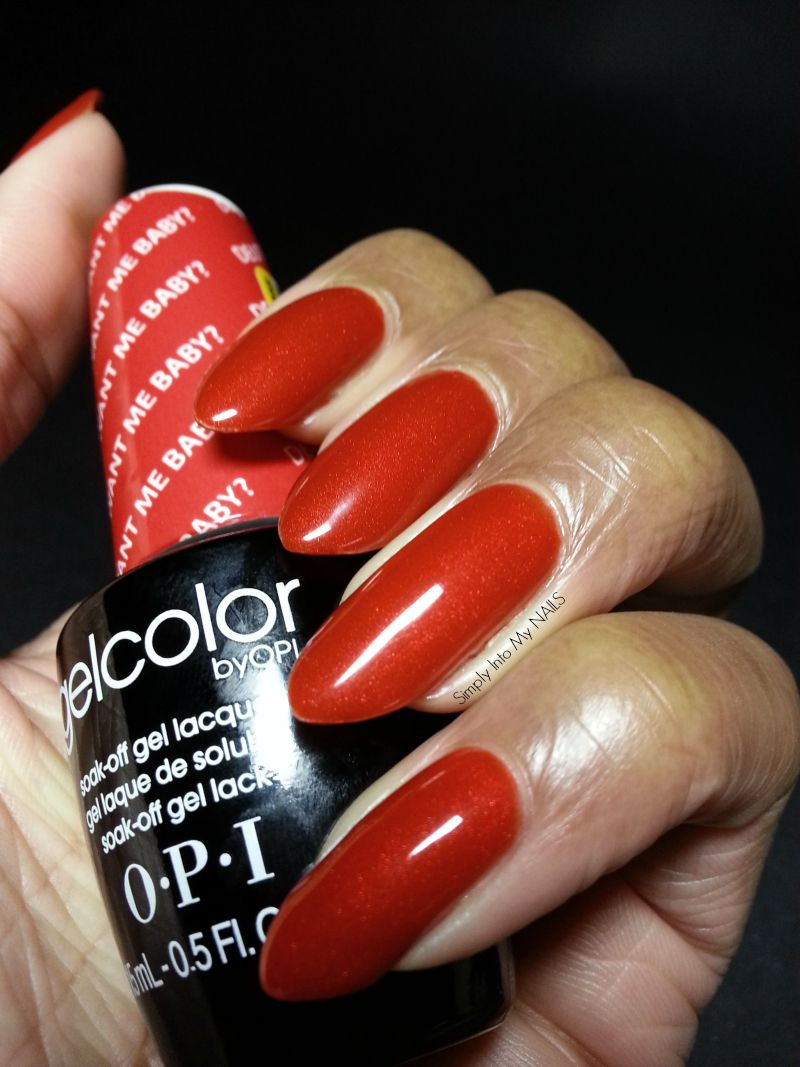 Opi Gelcolor Deutsch You Want Me Baby Gel Nail Polish