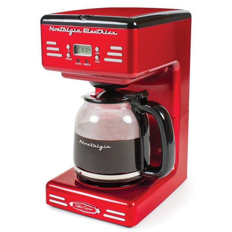 Nostalgia 12 Cup Retro Series Programmable Coffee Maker Coffee Maker Coffee Maker Reviews Drip Coffee Maker