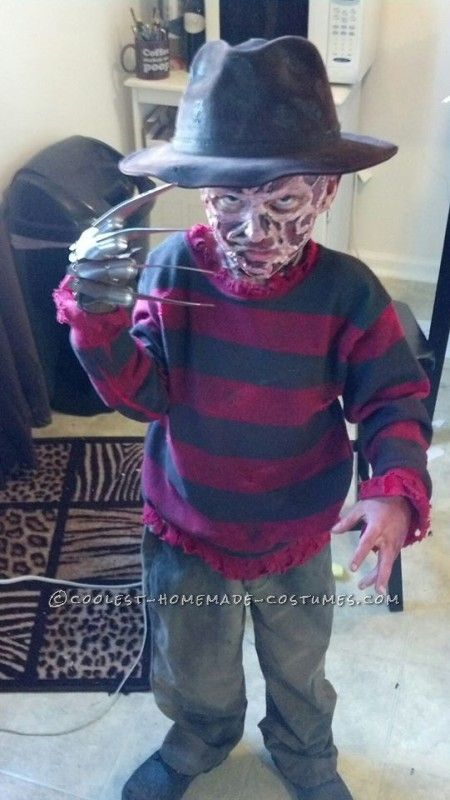coolest kids freddy krueger costume - Coolest Kids Halloween Costumes