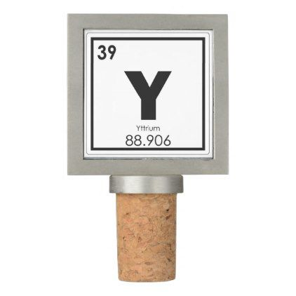 Yttrium Chemical Element Symbol Chemistry Formula Wine Stopper
