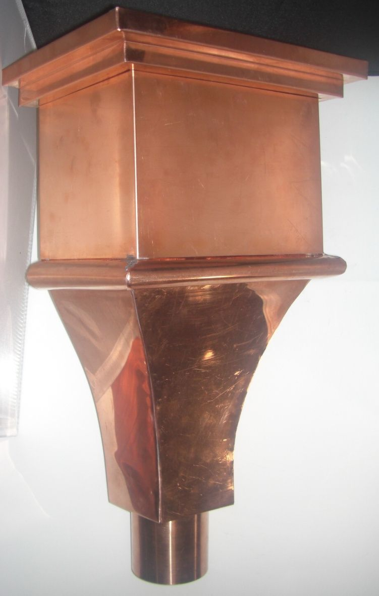 Copper Leader Head Conductor Head Copper In Architecture Copper Gutters Gutters