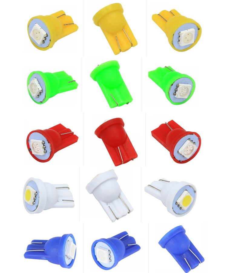 100pcs Colorful T10 5050 1smd 5050 1 Led 194 168 W5w Car Side Wedge Tail Reading Light Lamp Car Indicate Auto Bulb For Pinball Extremshopping For Fashion Elec