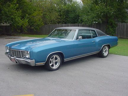 1972 Chevrolet Monte Carlo Mine Was Green Metallic With A White Vinyl Top I Loved That Car Still Hav Chevrolet Monte Carlo Chevy Muscle Cars Classic Cars