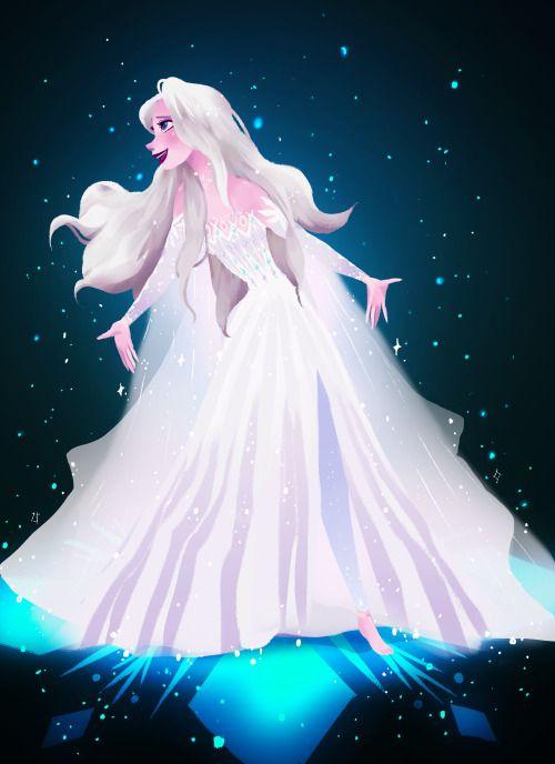 Show Yourself Elsa With Her Hair Loosened And In A New Dress From Frozen 2 Elsa Frozen Frozen Disney Movie Disney Princess Wallpaper Disney Princess Frozen