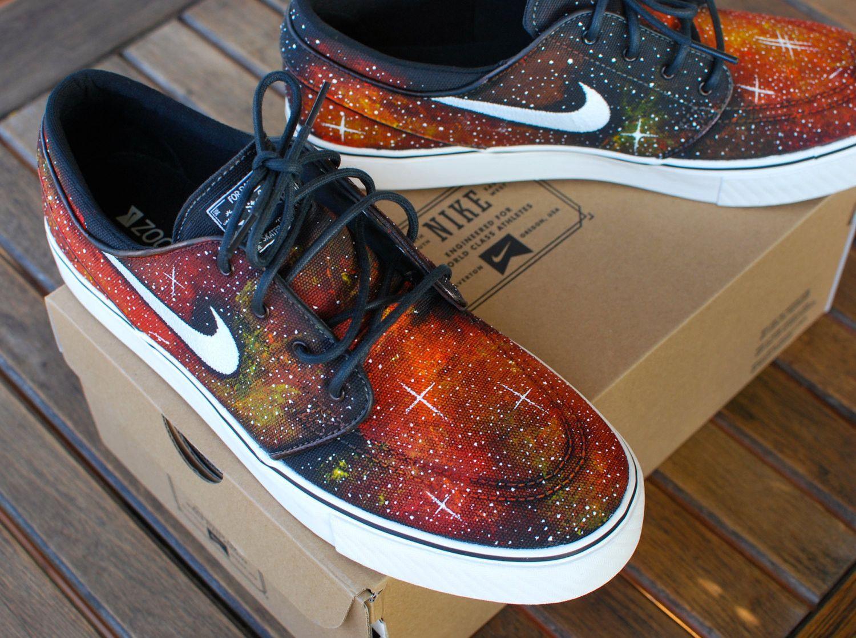 0cde28a38b29 Nike Zoom Stefan Janoski Solar Flare Galaxy Skate Shoes