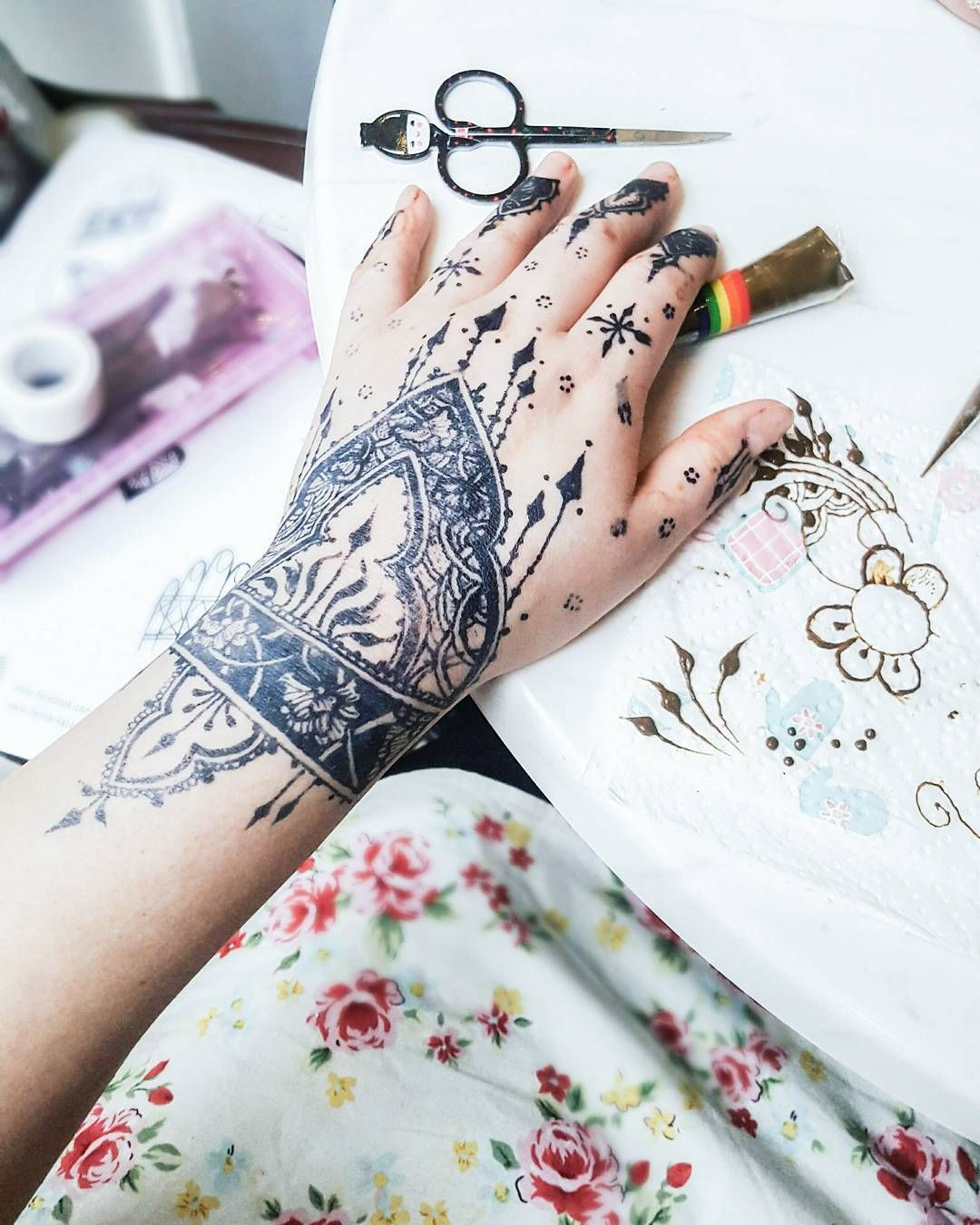 Intricate Jagua Design And Some Stuff From My Henna
