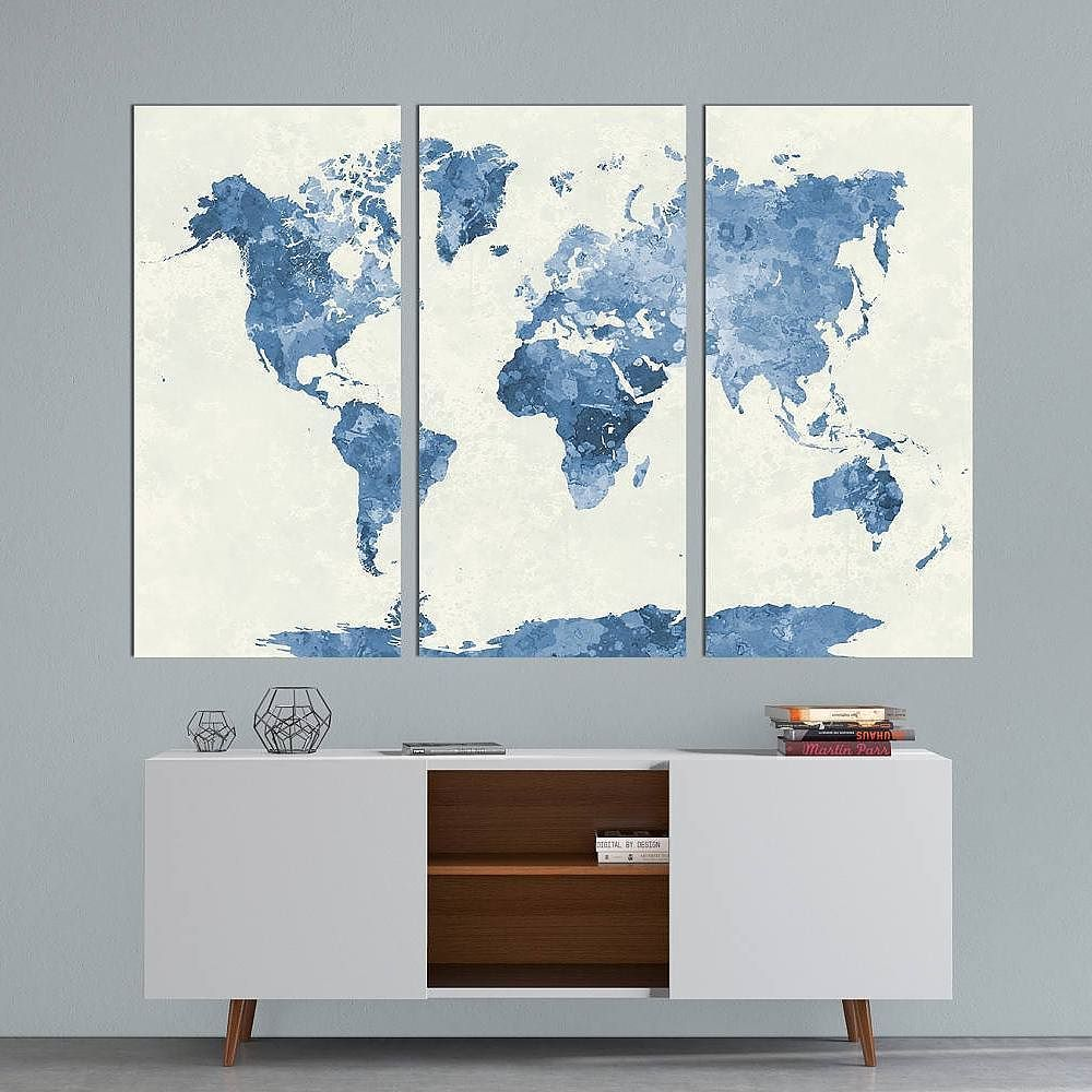 Grab em before they sell out panels watercolor world map canvas