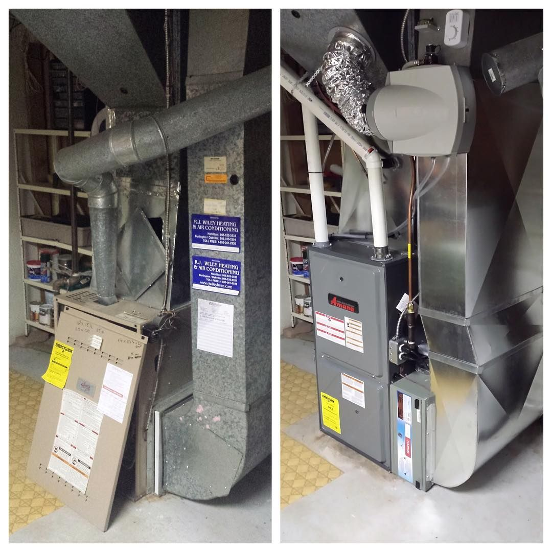 Milad Sideq on Instagram: Before & After. #furnace #ac #homerenovation #gas #electrical...