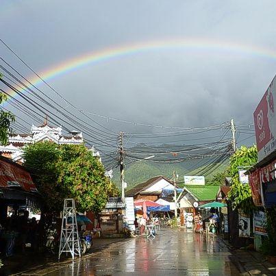 Rainbow over Walking Street