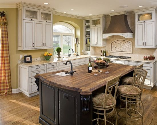 Love The Sink In The Block Traditional Kitchen Butcher Block