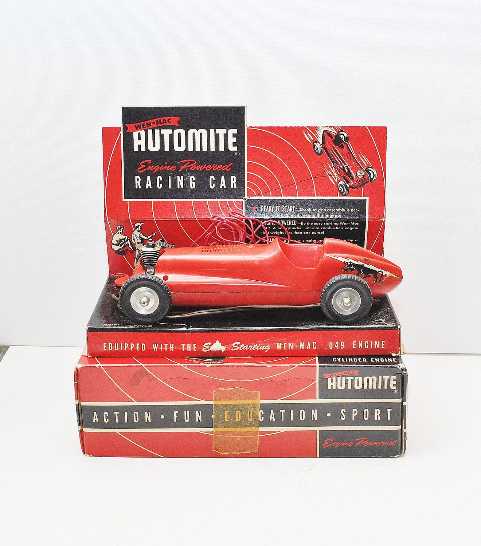 Vintage 1953 WEN-MAC AUTOMITE Race Car With .049 Engine