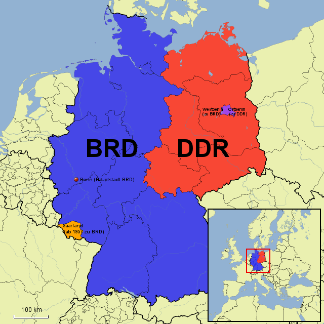 deutsche mauer karte Pin auf DDR