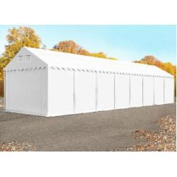 Photo of Storage tent 4x20m Pvc 550 g / m² white waterproof shelter, storage toolport