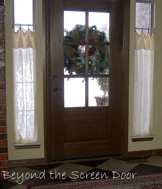 New Entry Hall Window Treatments With Images Front Doors With