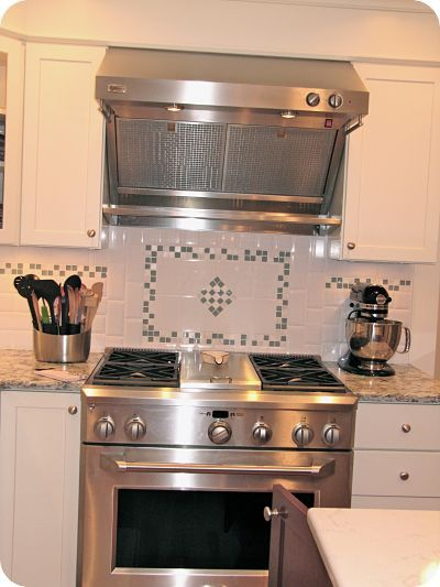 Classic White Subway Tile For The Backsplash But With A