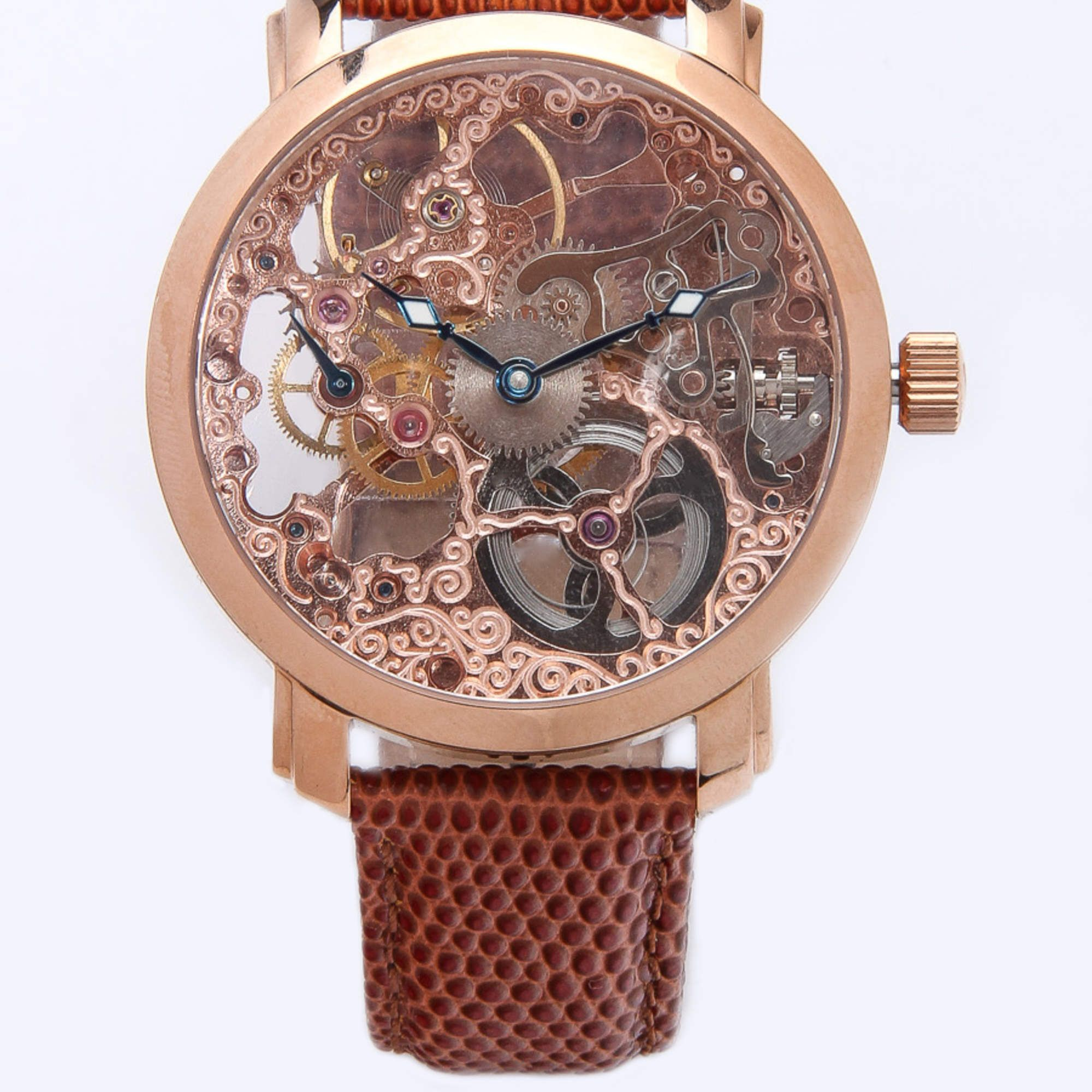 davinci leather luxury da back genuine band unisex products watches vodrich watch vinci silver