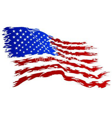 Usa Flag Grunge Art Vector By LetKevinDesign