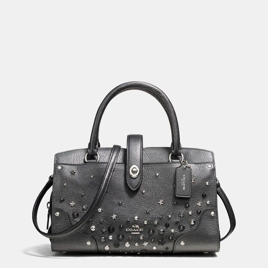 727ac06957c COACH Mercer Satchel 24 in Star Rivets   bags   purses   Pinterest ...